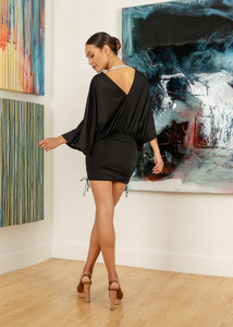 Black Short Dress - Cocktail, prom and ocassion dress. You'll find a reason to wear this pretty black dress that comes with the rhinestone choker. Playful sleeves and ruching back. Designed and made in Laguna Beach, CA Mostly lined. Black Short Dress Cocktail Party Dress. Miami Fashion Woman Short Dresses Online Store