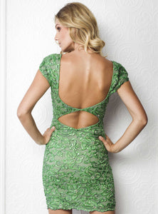 Stretch Lace Green Cocktail Dress. Short Dress. Prom dresses, party dresses for woman. Short dresses near miami. Woman Cocktail dresses for sale.