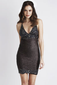 Black Sequin Metallic Cocktail Dress. Short Dress. Prom dresses, party dresses for woman. Short dresses near miami. Handpainted short dress for woman.