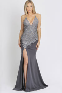 Caviar Jersey Grey Gowns Party Dress. Party dresses for sale. Handmade shape long dresses for cocktail event. Cocktail party long dresses for woman. Latest Miami fashion long dresses and gowns for sale.