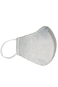 Handcrafted White Fashion Masks - Bacterial and viral filtering. High-quality Couture face masks. Our face masks have 5-layer protection for your safety. One size. Unisex face masks. Two Layers of Tulle, Lycra Spandex, Poplin cotton, Cambrelle/Antifluid Layer For fashion purposes ONLY not for medical purposes.
