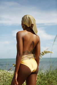 Allis Gold One Piece Monokini - Resort & Swimwear Fashion