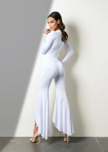 Hand-Craft Soft Jumpsuit - Woman Dresses. Sheer, soft and sensual, this jumpsuit features and hand-craft luxurious fabric, highlighting the most sensual parts of the body. Simple and youthful. Designed and Made in USA Delivery Time: 10-15 Business Days. Online fashion woman store. Dresses and jumpsuits near Miami. Shop