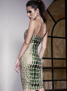 Julia Painted Mesh Long. Jade Collection