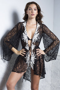 KIKA Black Short Cover Up