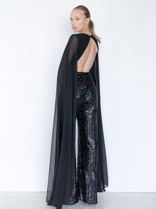 Jet Deep Neckline Gowns - Long Dress