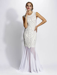 White Stretch mesh handpainted caviar glass texture gowns. Long dress. Get free USA Ground shipping and International shipping from $39.99. Gowns fashion near miami. White gowns long dresses for sale.