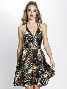 Miami Fashion Designer BACCIO. Women Dresses Donatela Silk Short