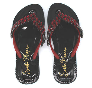Women's padded flip flop sandals