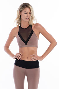 Black/cocoa SportsBRA. Nylon/SPandex Skywalker Sports BRA Black - Sportwear. Lasercut detail in the front and back. Contrasting leopard jacquard and mesh panels. Nylon/spandex. Machine wash. Imported. Best women fashion designer brands. Dresses, sportwear, shirts, skirts, pants, belts, handgabs and accesories online.