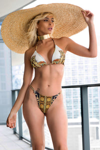 Rolex and animal print bikini. Beachwear resort style. Woman swimwear. Swimwear outfit that vibe during your vacation. Lightweight  This style is perfect if you are looking for exclusive designer's bikini with the last fashion trends. Bikini. Fashion bikinis. Handmade Miami swimwear.  Beachwear. Swimsuit. Miami fashion