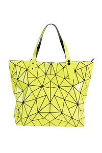 Women's Yellow Hologram Top Handle Tote Bag. Handbags & Accesories. Perfect TOTE bag to cover your needs. Perfect for everyday, the school, the beach, the gym or a night out. The prismatic shape, makes them easy to fold and store in its dust bag. Miami woman fashion online store. Best women fashion designer brands.