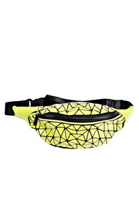 Women's Neon Yellow Hologram Belt Bag. Handbags & Accesories. Perfect Belt bag to cover your needs. Perfect for everyday, the school, the beach, the gym or a night out. The prismatic shape, makes them easy to fold and store in its dust bag. Miami woman fashion online store. Best women fashion designer brands.