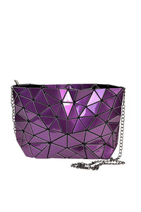 Women's Purple Hologram Cross Body Bag. Handbags & Accesories. Perfect cross body bag to cover your needs. Perfect for everyday, the school, the beach, the gym or a night out. The prismatic shape, makes them easy to fold and store in its dust bag. Miami woman fashion online store. Best women fashion designer brands.