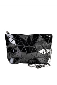 Women's Black Hologram Cross Body Bag. Handbags & Accesories. Perfect cross body bag to cover your needs. Perfect for everyday, the school, the beach, the gym or a night out. The prismatic shape, makes them easy to fold and store in its dust bag. Miami woman fashion online store. Best women fashion designer brands.