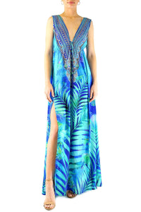 Maxi Dress In Blue