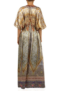 Satin Kaftan Dress