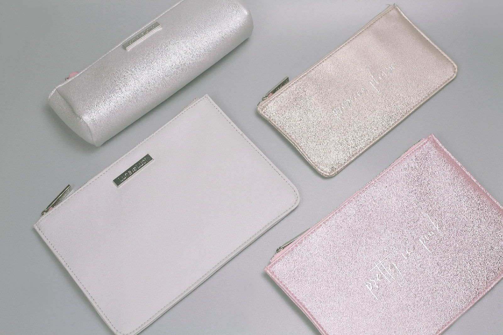 Silver Make-Up Pouch