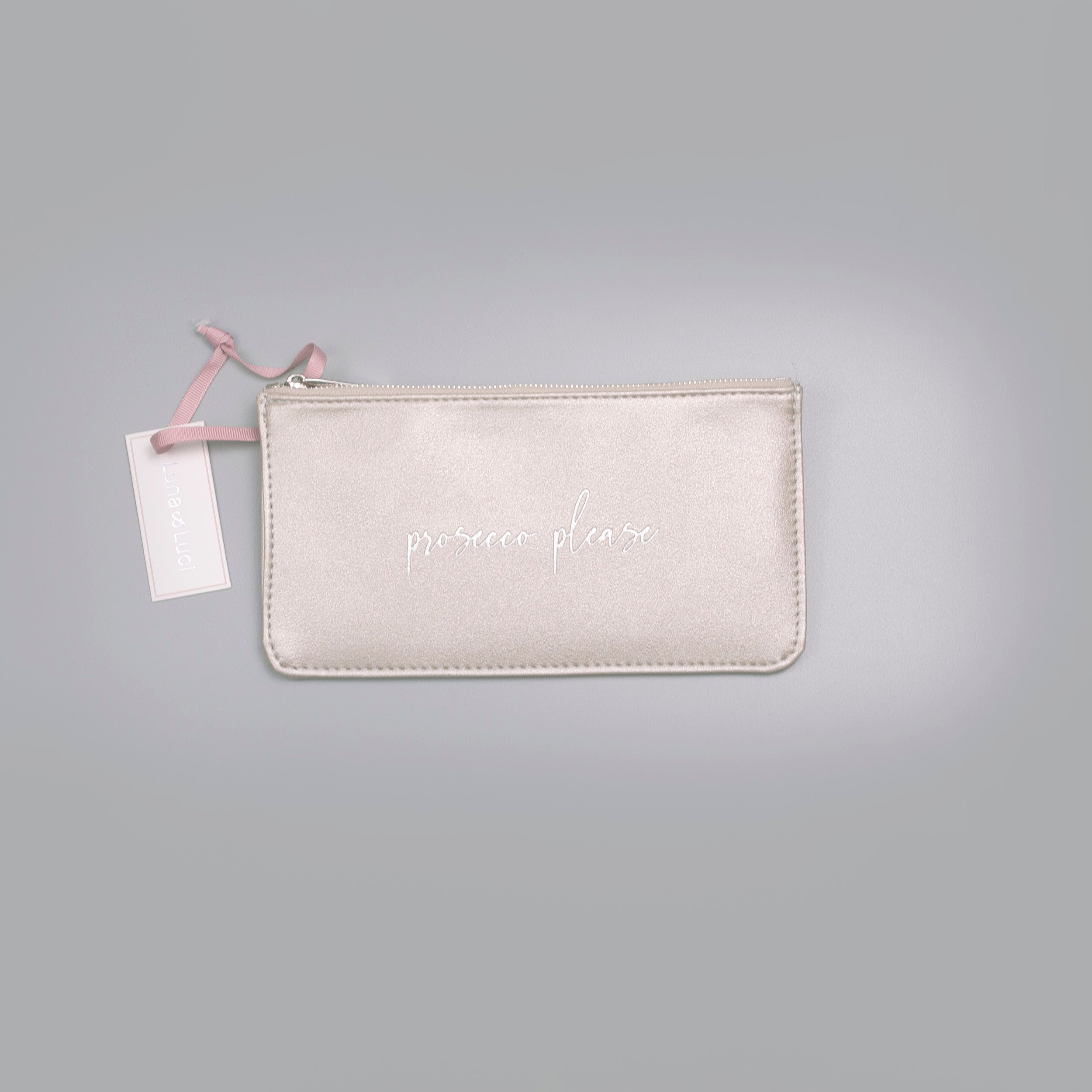 Prosecco Please Small Gold Pouch