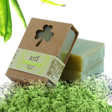 HMM-100g Organic Handmade Matcha Green Tea Powder Soap Whitening Moisturizing Cleansing Soap Remove Acne Cleansing Bath Bar Soap
