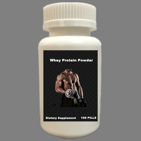 HMM-500MG 100 CAPSULES Pure Whey Protein Powder WPC80 Fitness Nutrition Supplements