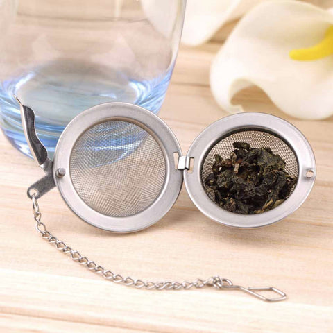 Stainless Steel Sphere Locking Spice Tea Ball