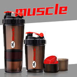 HMM-3 Layers Whey Protein Powder Shaker