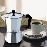 Aluminum coffee maker machine