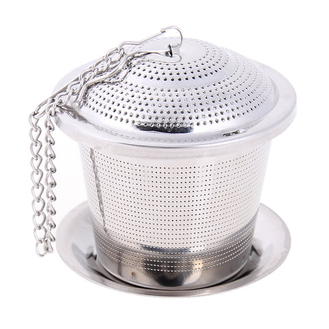 HMM-Stainless Steel Mesh Tea Infuser Reusable Tea Strainer Loose Teapot Leaf Spice Filter Tea Strainer Infusor Mesh Tool Accessories