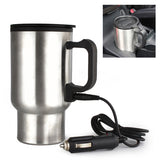 HMM-12V/24V Portable 350ml Car Auto Heating Cup Adjustable Temperature Car Boiling Mug Electric Kettle Boiling Vehicle Thermos