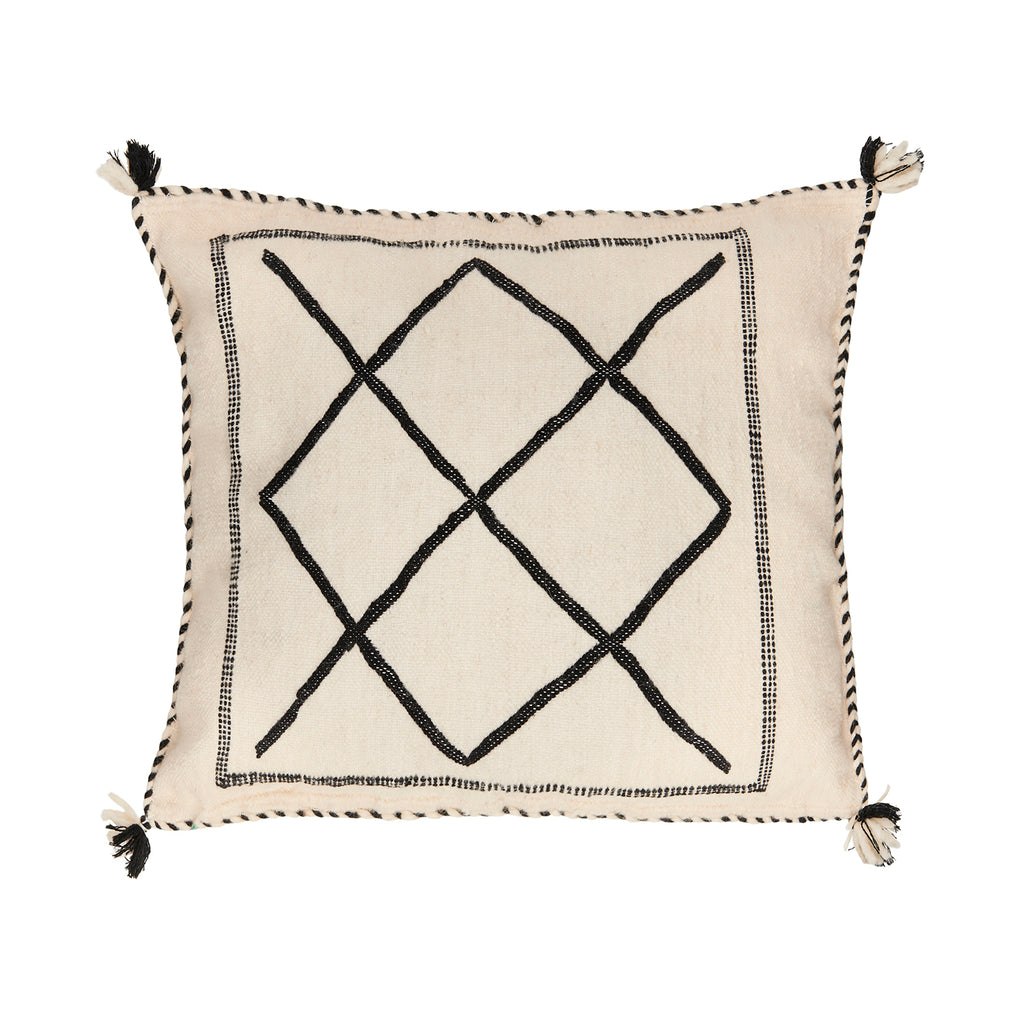Cream Cactus Silk Cushion | Idir