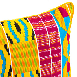 Kente/Ghana/Pattern/Bright/Orange/Pink/Blue/Scatter/Cushion/