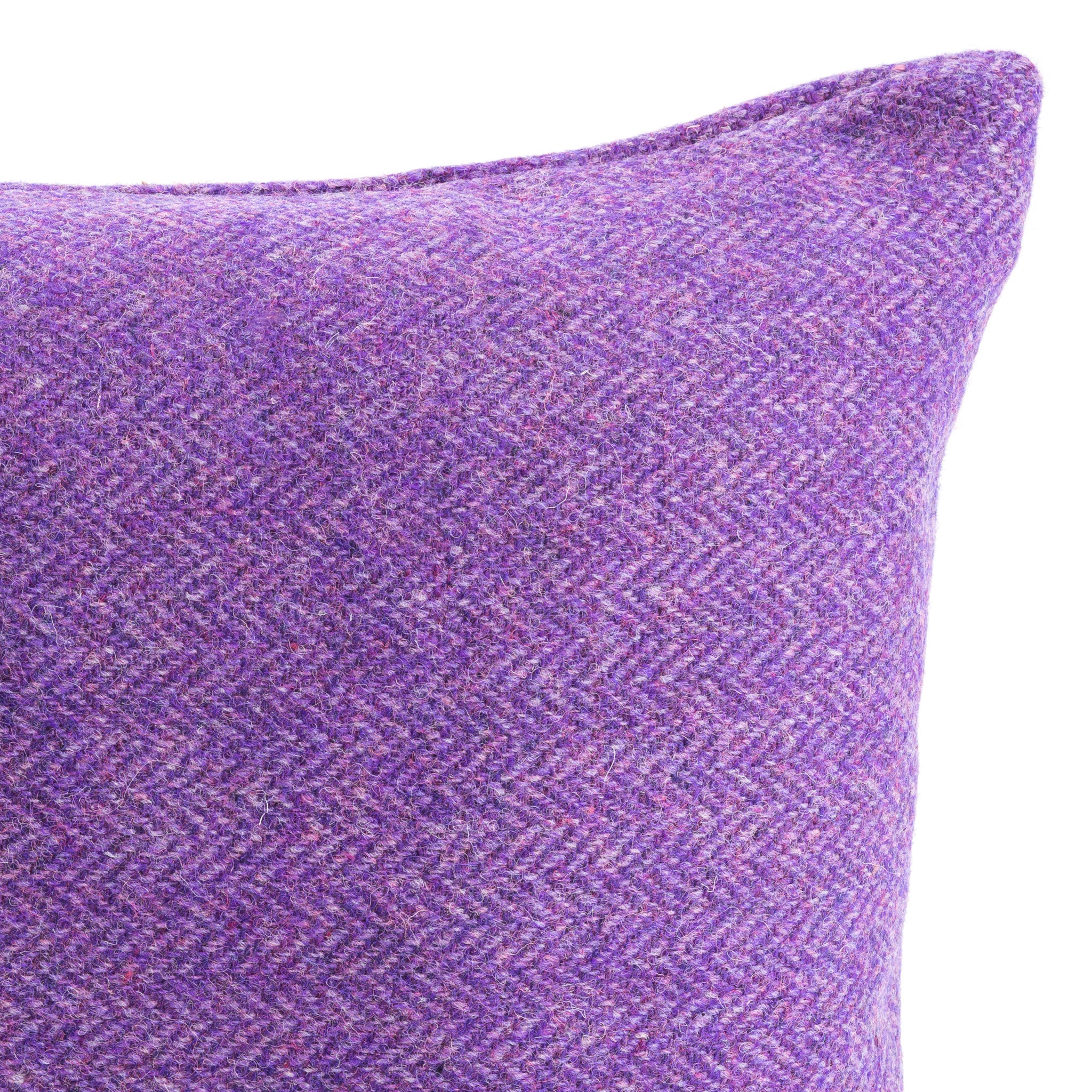 Harris Tweed/Pure Wool/Purple/Violet/Herringbone/Outer Hebrides/Scatter/ Cushion/Back