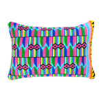 Kente/Ghana/Cotton/Pattern/Pink/Blue/Green/Yellow/Scatter/Cushion/