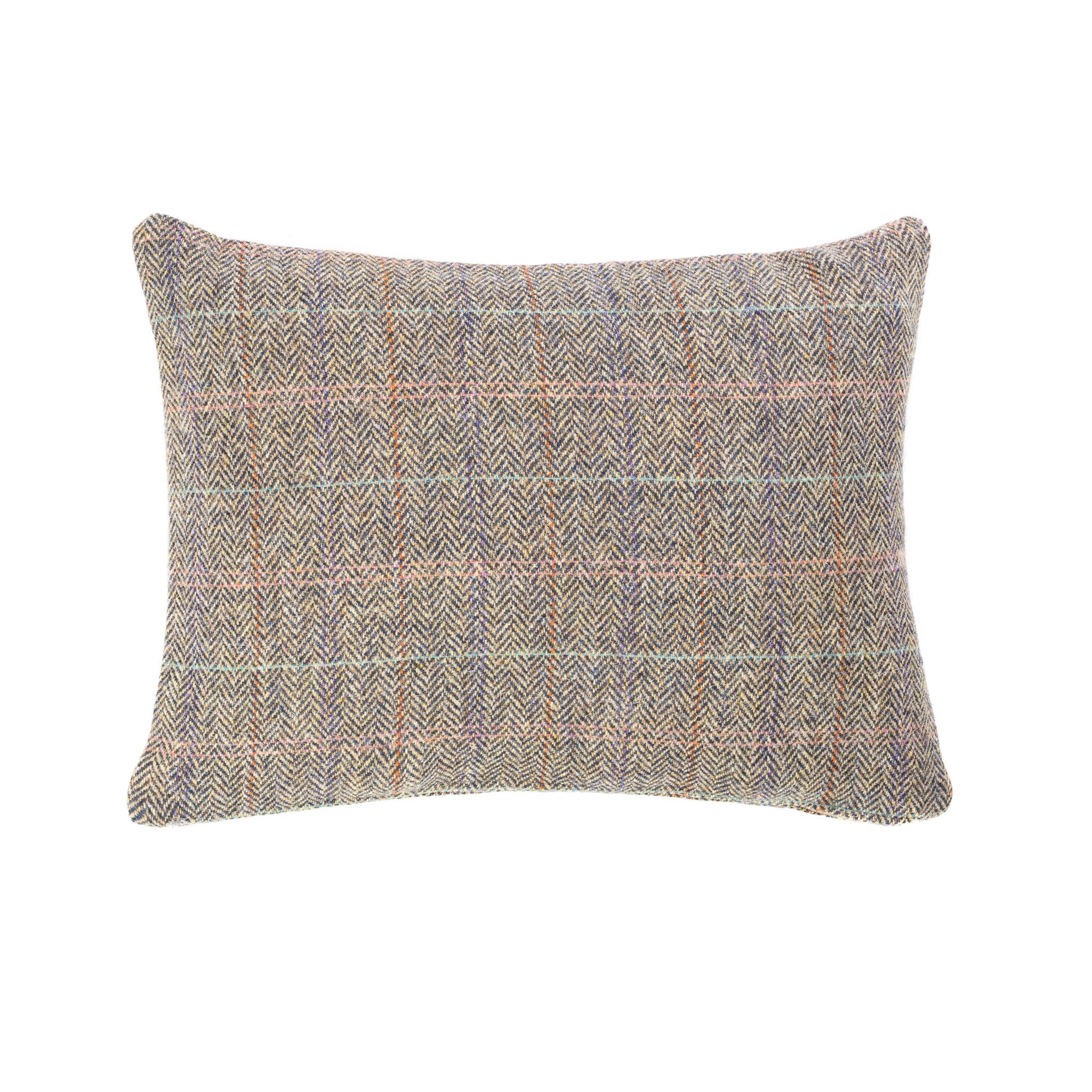 Harris Tweed/Pure Wool/Outer Hebrides/Scatter/Cushion/Beige/Purple/Pink/Pale Blue/Check/
