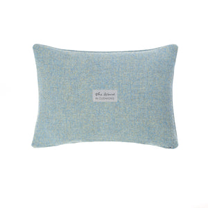 Harris Tweed/Pure Wool/Outer Hebrides/Scatter/Cushion/Pale Blue/Baby Blue/Sky Blue/Herringbone/Back/