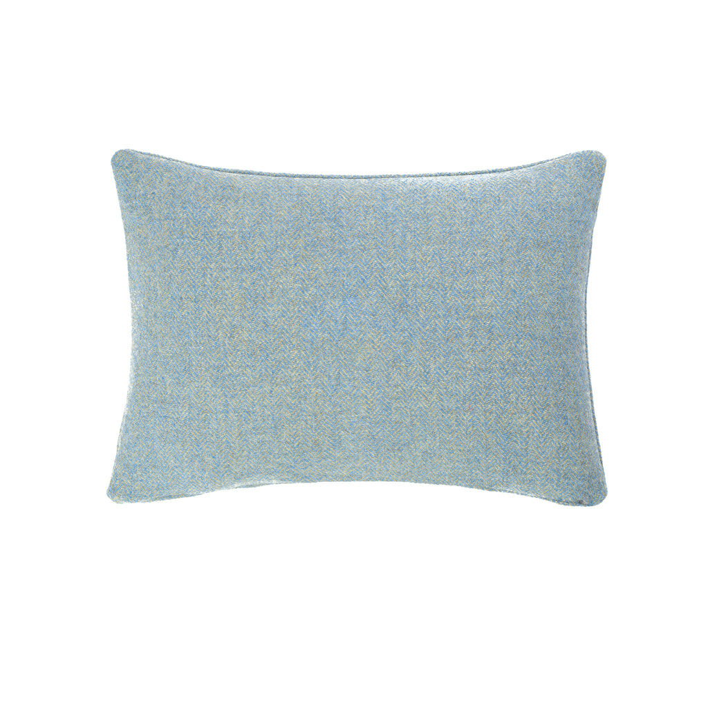 Harris Tweed/Pure Wool/Outer Hebrides/Scatter/Cushion/Pale Blue/Baby Blue/Sky Blue/Herringbone/