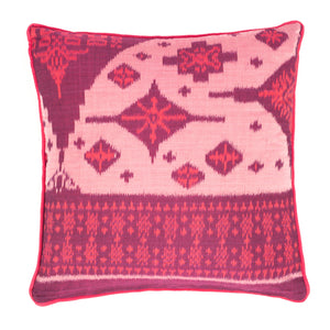 Luxury cushion/Scatter cushion/Designer cushion/Pink/Fuchsia/Pale pink/Ikat cushions/Bali/Indonesia