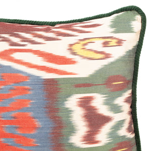 Luxury cushion/Scatter cushion/Designer cushion/Red/Silk/Velvet/Patterned cushion/Royal green cushion/Patterned cushion/Ikat cushions/Istanbul/Turkey