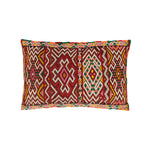 Hand Woven Red and Pink Vintage Kilim Cushion | Itri