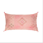 Large Pale Pink Cactus Silk Lumbar Cushion | Kahina