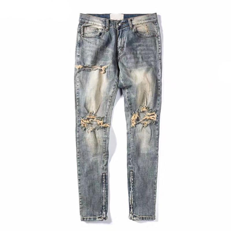 Adrian Ripped Zipper Jeans