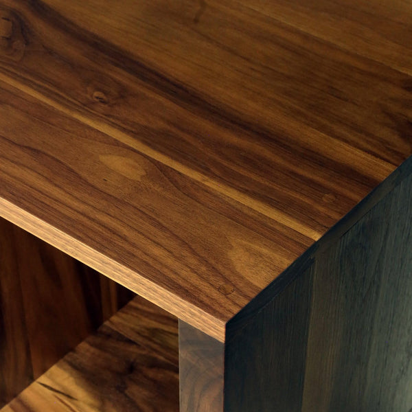 Solid walnut minimalist furniture