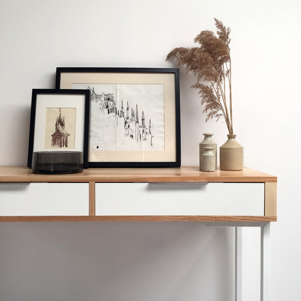 Bespoke ash console table