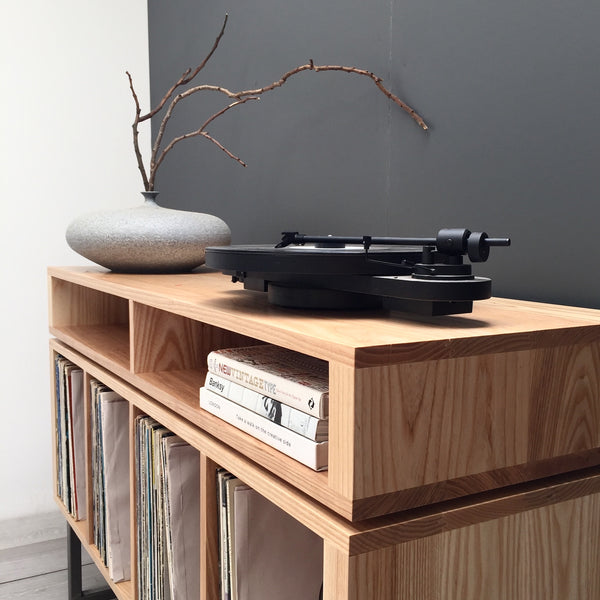 Solid wood, ash record player stand