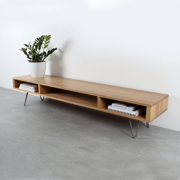 Extra wide oak TV Stand