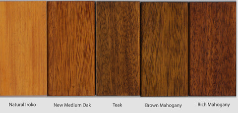 teak stains on iroko samples