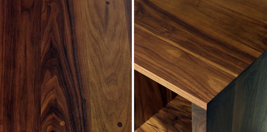 Walnut furniture colour and grain