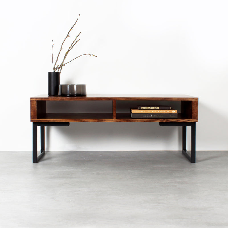Darwen Solid Wood Coffee Table On Minimalist Square legs