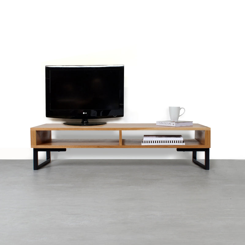 Darwen Solid Wood TV Stand on Minimalist Square Legs